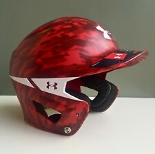 Under Armour Converge Motive Camo Adult Baseball Batting Helmet - Scarlet