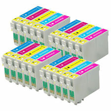 20 Cartucce Inchiostro a Colori per Epson Stylus Photo P50 PX730WD R265 RX560