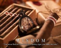 Humidor Cigar Box Poster Print Grandfather Gift Humidor Wall Art Cigar Lover