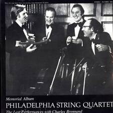 LP PHILADELPHIA STRING QUARTET MEMORIAL ALBUM LAST PERFORMANCES CHARLES BRENNAND