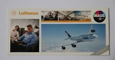 Lufthansa Airlines Postcard LH Boeing 747-8 Aircraft Magic Card Business New