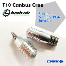 2x 501 Canbus Cree Bulbs LED Xenon White T10 5W Car Sidelights Audi BMW VW Seat