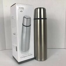 Thermos Nissan Vacuum Insulated 34oz Compact Stainless Steel Beverage Bottle
