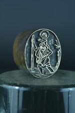 Antique Religious print Stamp copper & lead St Christopher