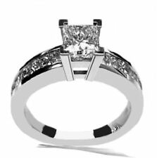 NEW 1.60CT PRINCESS CUT DIAMOND ENGAGEMENT WEDDING RING 14 WHITE GOLD PD567D