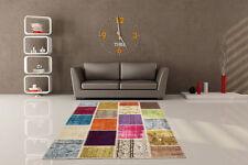 Wohnraum-Naturfaserteppiche mit Patchwork-Muster