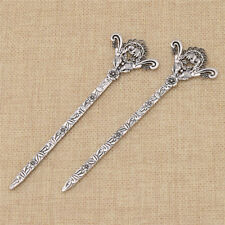 Mandarin Duck Flower Bookmark Metal Charms Gift School Supplies Pack of 2