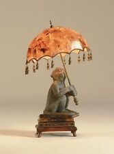 Maitland-Smith 1753-884 - Verdigris Patina Monkey on Books Desk Lamp