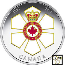 2017 Order of Canada-Canadian Honours' Color Proof $20 Silver 1oz .9999(18158)NT