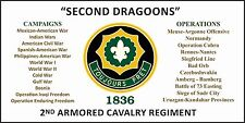 2ND ARMORED CAVALRY REGIMENT 3'X5'  2PL POLYESTER 1-SIDED INDOOR 4 GROMMET FLAG