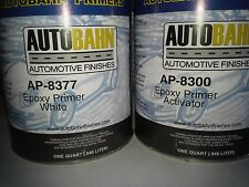 White Epoxy Primer Sealer and Catalyst 2 Quart Kit Direct to Metal Car Auto Kit