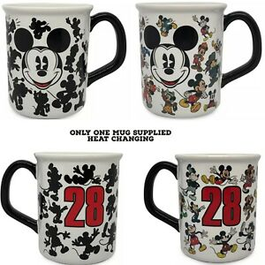 Disney Mickey mouse heat changing Silhouette Style-Artwork Colour Changing mug