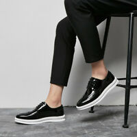 Men's Carved Brogues Wingtip Lace Up Creepers Patent Leather British Style Shoes