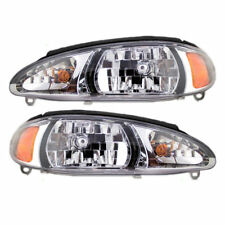 REPLACEMENT HEADLIGHTS HEAD LAMP RIGHT & LEFT FOR 1997 - 2003 FORD ESCORT SEDAN