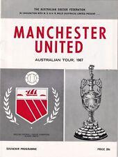 Queensland Manchester United 1967 Football Programme Australian Tour