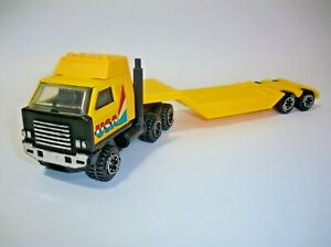 """Tonka USA Builds Toy Tractor Trailer Rig - Yellow Semi, 12"""" Long"""