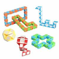 6 Pack Wacky Tracks & Fidgets Snack Cube Twist Puzzle for Birthday Party Favors