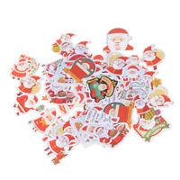 48x Merry Christmas Cake Decorative Sticker Scrapbook Diy Diary Stickers Gift Uj