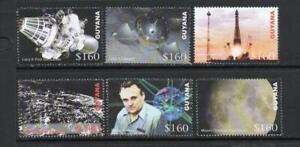 GUYANA MNH 2006 SG6545-6550 SPACE ANNIVERSARIES