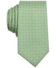 $116 PERRY ELLIS Mens GREEN CALLAGHAN DOT TIE NECK DRESS CLASSIC NECKTIE 56X3