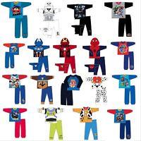 Boys Kids Baby Marvel Avengers Pokemon Pyjamas Long Sleeve Top & Bottom Age 1-10