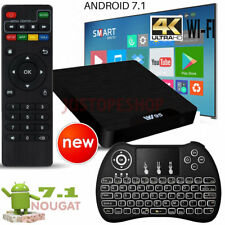 2017 W95 Android 7.1 Nougat TV Box 4K HD Media Player 17 WIFI+Wireless Keyboard
