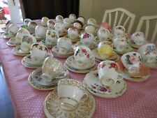JOB LOT X 50 MISS-MATCHED VINTAGE BONE CHINA TEA SET TRIOS WEDDINGS 150 PIECES