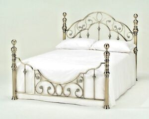 LAVISH FLORENCE BRASS EFFECT BED FRAME BEDSTEAD IN DOUBLE & KING ***FREE P&P***