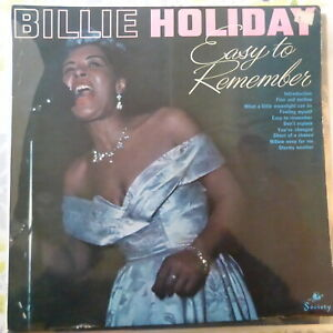 BILLIE HOLIDAY LP EASY TO REMEMBER 1966 UK VG++/VG+