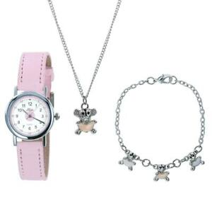 Relda Kids Teddy Bear Jewellery & Watch, Necklace, Bracelet Girls Gift Set REL27