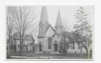Vintage Postcard ** RPPC ** Congregational Church ** GREENE * NY