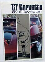 Original 1967 Chevrolet Corvette Prestige Dealer Sales Brochure Stingray 327 427