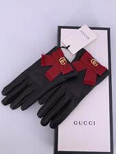 Neu Luxury Original GUCCI Damen Handschuhe-434223- Leder Große-7,5-M