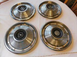 Set 4 hubcaps 1966 1967 Chevrolet Chevy Chevelle Hub Caps vintage RARE wheel cov