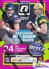 2017 Donruss Optic Football EXCLUSIVE Sealed Blaster Box-6 ROOKIES-MAHOMES RC YR