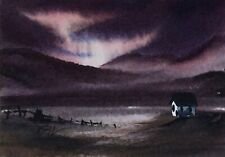 Original Miniature Painting ' The Light Fades '  by Bill Lupton ACEO