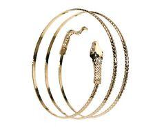 Gold Spiral Upper Arm Cuff Armlet Armband Bangle 7 Gemstone Bracelet Accessoris