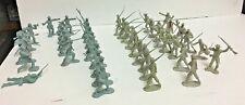 MARX VINTAGE 1960s CIVIL WAR BLUE GRAY PLASTIC TOY SOLDIERS