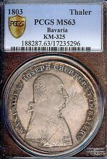 Germany Deutschland Bavaria 1803 Taler Coin Thaler PCGS MS 63 Stempelglanz RARE