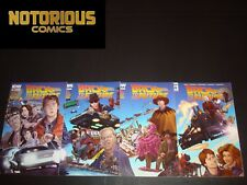 Back to the Future 1 2 3 4 Complete Comic Lot Run Set IDW Collection Gale