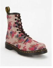 DOC Dr. Air Martens Taupe Floral  Bouquet 8 Eye Lace Up Boots #14723260 - Size 9