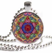 Hanukkah Chanukah GIFT Star of David NECKLACE Mandala Pendant Hebrew Jewelry