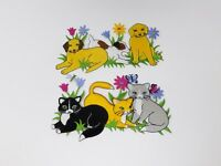 Fabric Iron-On Appliques - New - Dogs / Cats