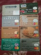 18 Vintage Credit MASTER CARD Bank Charge Cards Lot