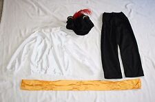 Boys Fits 10 Pirate 4pc Outfit Hat Pants Sash Long Sleeve Shirt Costume Hallowee