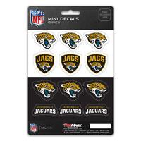 New NFL Jacksonville Jaguars Die-Cut Premium Vinyl Mini Decal / Sticker Pack