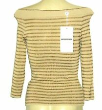 Viscose 3/4 Sleeve Hand-wash Only Striped Tops for Women