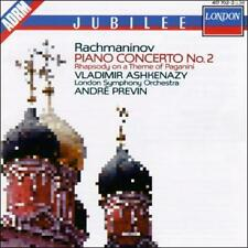 Rachmaninov: Piano Concerto No.2; Rhapsody on a Theme of Paganini (CD, Apr-1987…