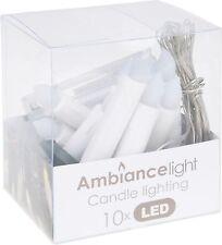 Set of 10 Christmas Candle Lights Clip on Christmas Tree Lights Fairy Lights