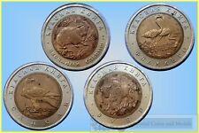 Russia 1994 Animal Series 50 Rouble Bi-Metallic Coins x 4